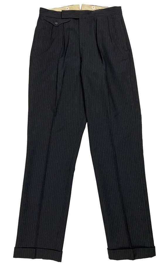 Original 1950s Men's Striped Trousers