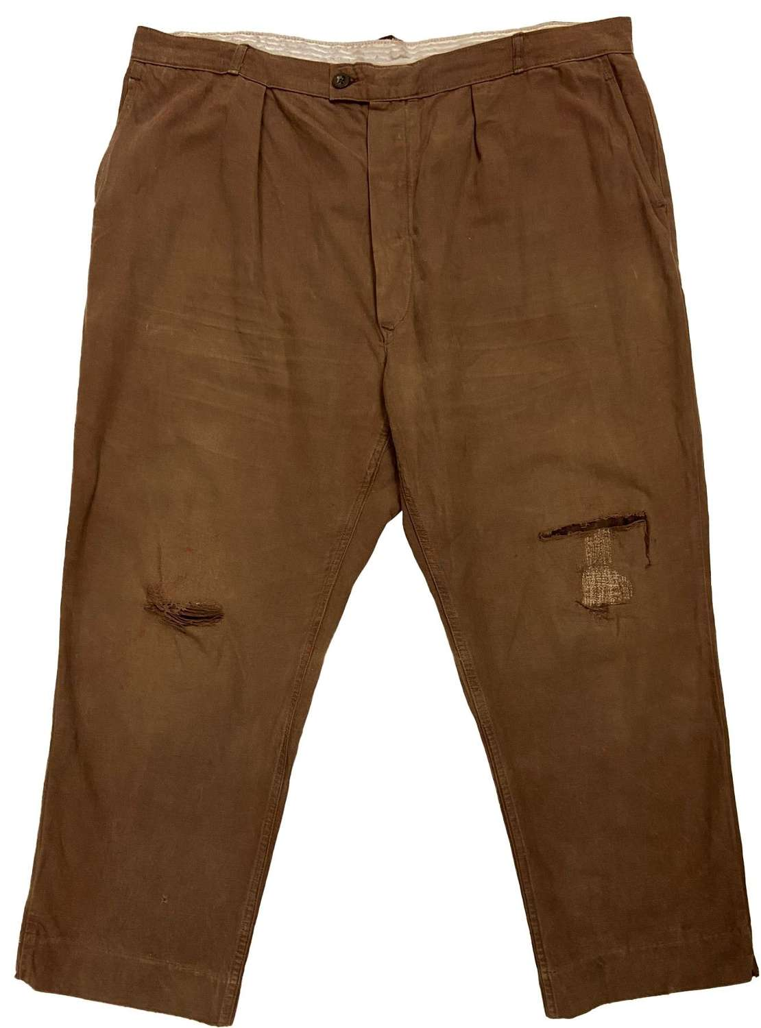 Original 1960s Brown French Workwear Trousers