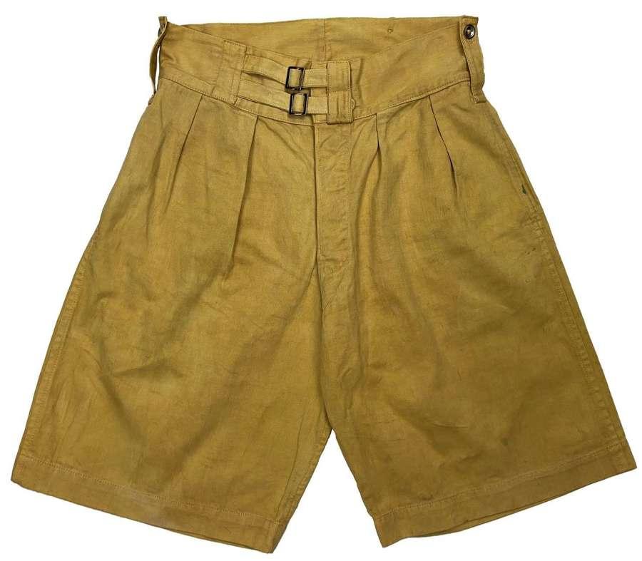 Original 1940s Cotton Drill Shorts