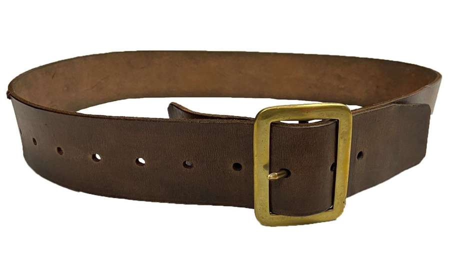 Original British Army 1903 Pattern Leather Waist Belt