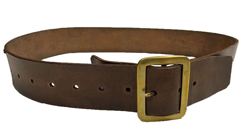 Original British Army 1903 Pattern Leather Waist Belt