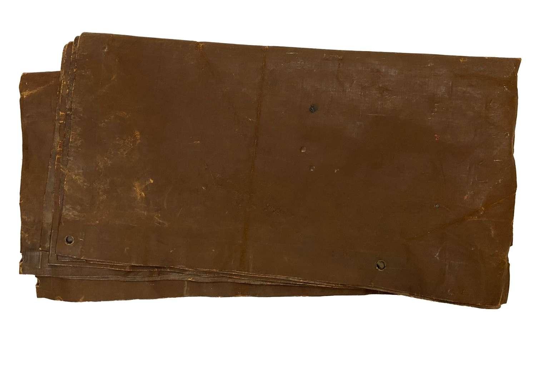 Original Early WW2 British Army Rubberised Ground Sheet