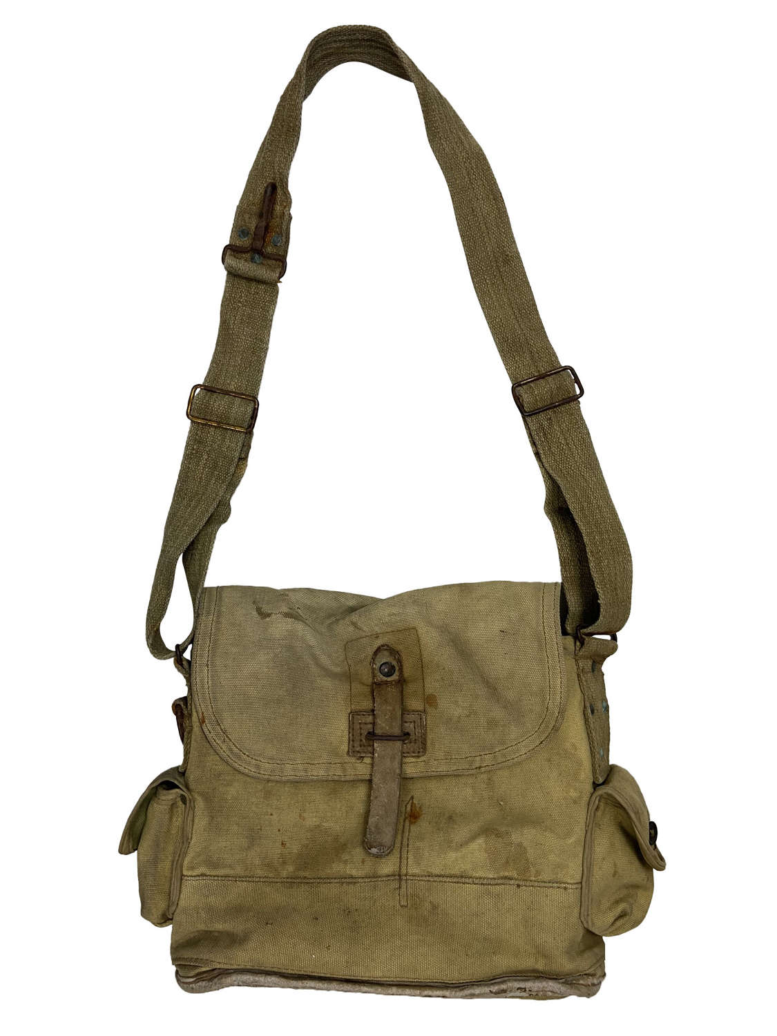 Original 1940 Dated French Army Gas Mask Bag