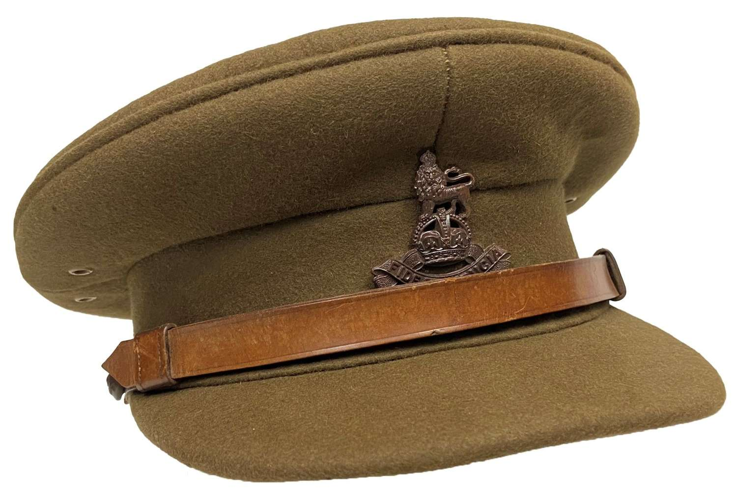 Original WW2 Royal Army Pay Corps Officers Peaked Cap by 'Gieves'