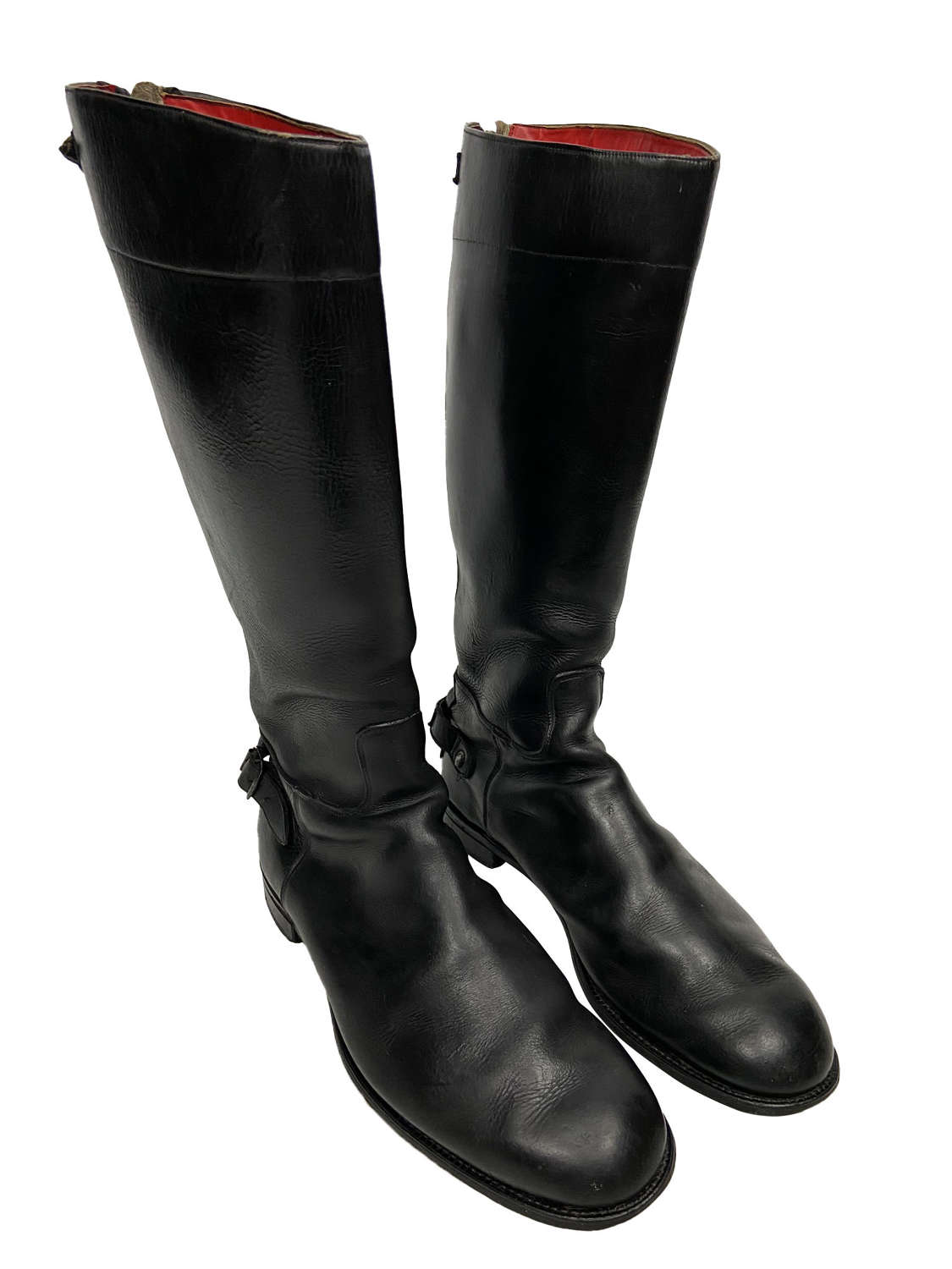 Original 1950s Lewis Leathers Aviakit Motorcycle Boots - Size 11