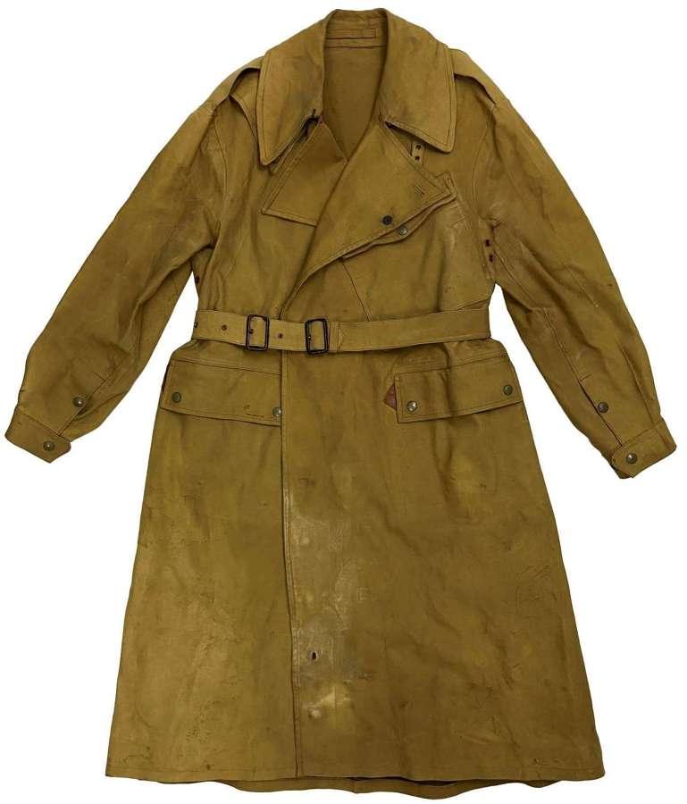 Original 1943 Dated British Army Dispatch Riders Coat - Size 7