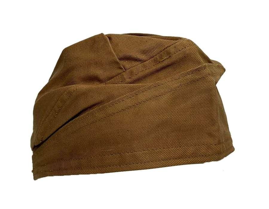 Original WW2 Women's Royal Ordnance Works Khaki Cotton Cap