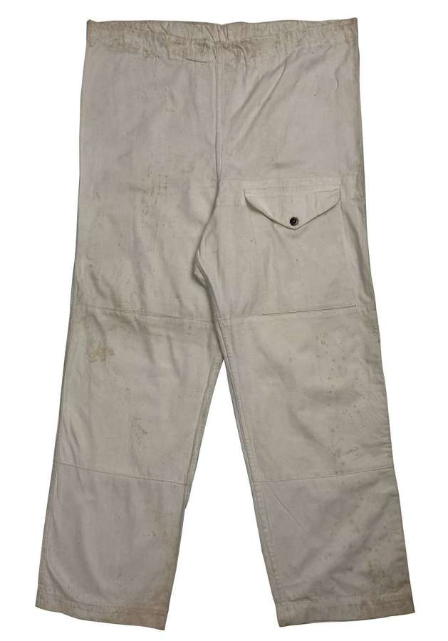 Original WW2 British Army Windproof Camouflage Snow Trousers