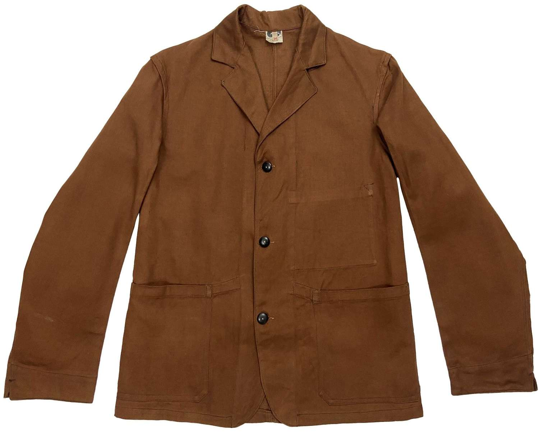Rare Original 1940s CC41 Three Button Engineer Work Jacket