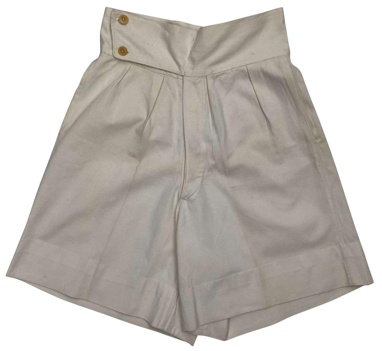 Original 1940s White Cotton Drill Shorts
