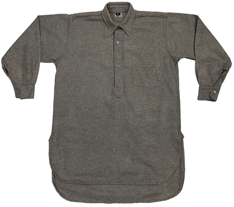 Original 1940s CC41 Men's Grey Flannel Collared Shirt