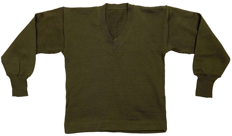 Original 1951 Dated British Army Wool V-Neck Jumper
