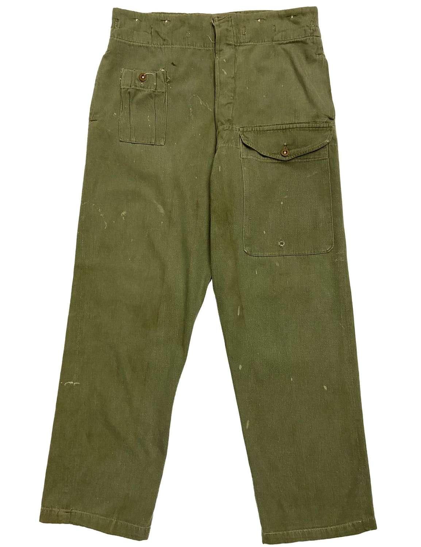 Original 1950s British Denim Battledress Trousers