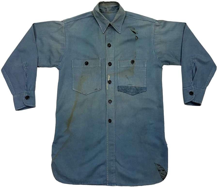 Original 1940s Royal Navy Action Working Dress Shirt