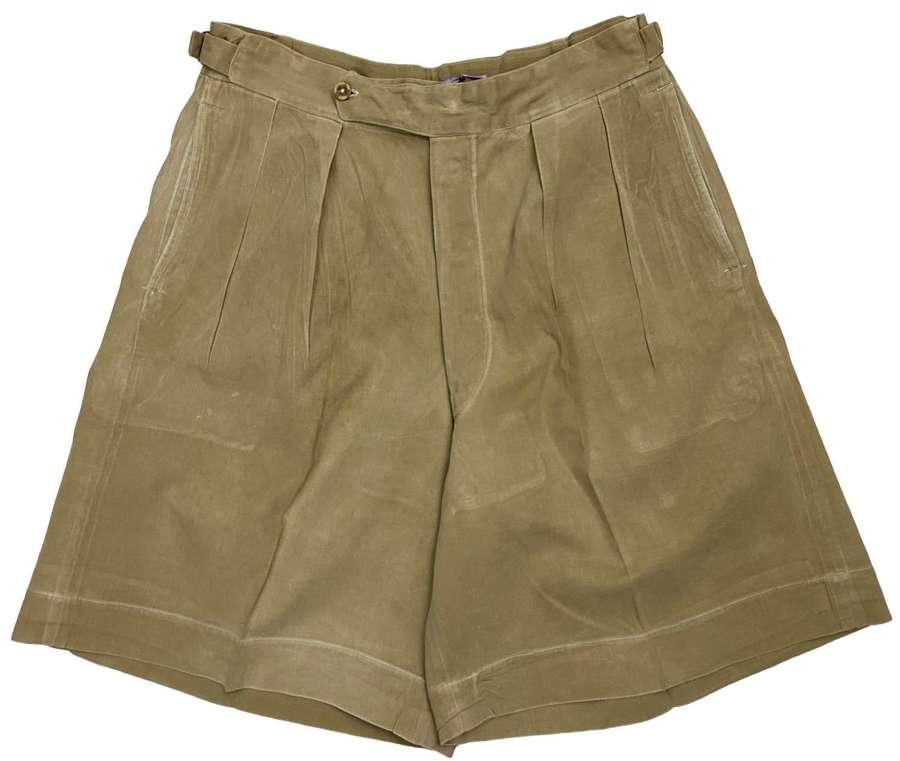 Original 1940s British Military Khaki Drill Shorts - Size 30