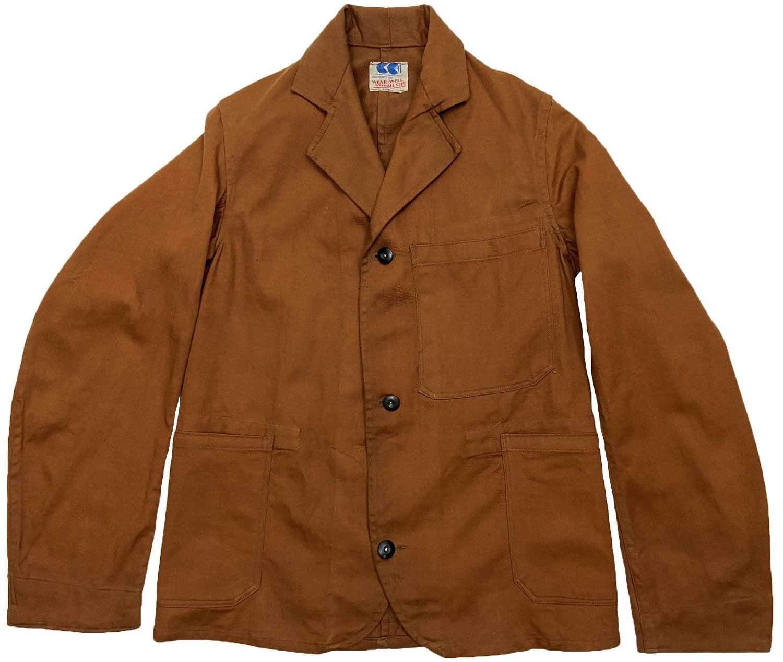 Rare Original CC41 Three Button Engineer Work Jacket by 'Wear-Well'