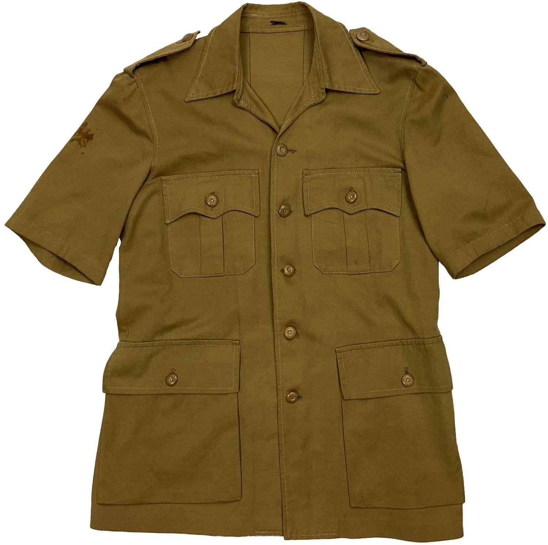 Original 1940s British Military Khaki Drill Bush Jacket