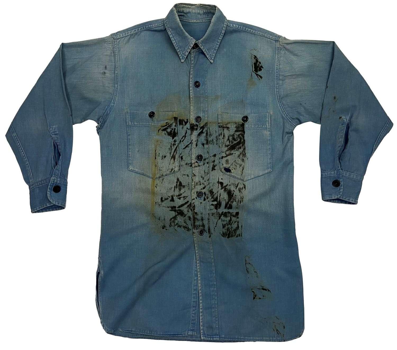 Original 1940s Royal Navy Action Working Dress Shirt (2)