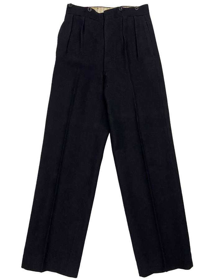 Original WW2  Royal Navy Petty Officers Serge Wool Trousers