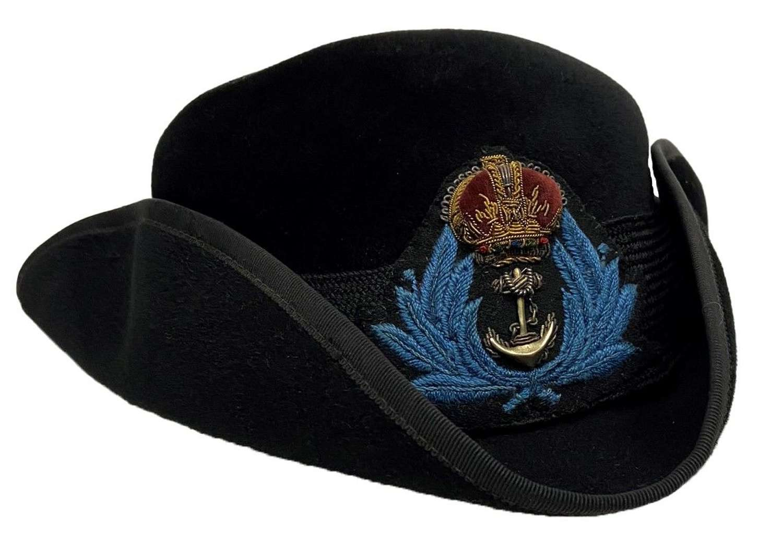 Original WW2 WRNS Officers Tricorn Hat