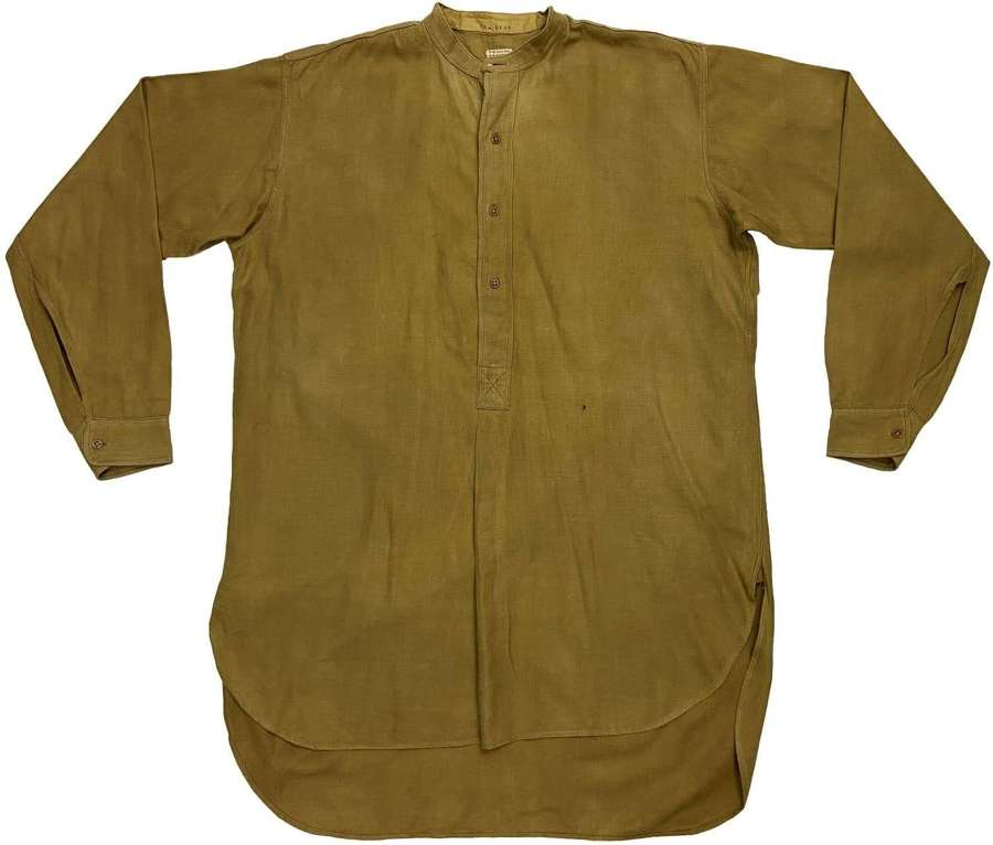 Original WW2 British Army Officers Collarless Shirt - Welsh Guards