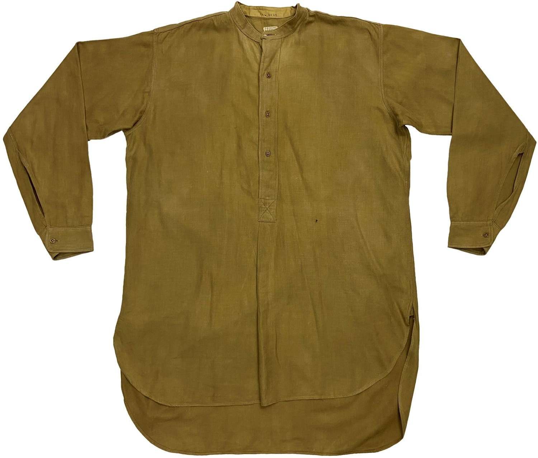 Original WW2 British Army Officers Collarless Shirt - Welsh Guards