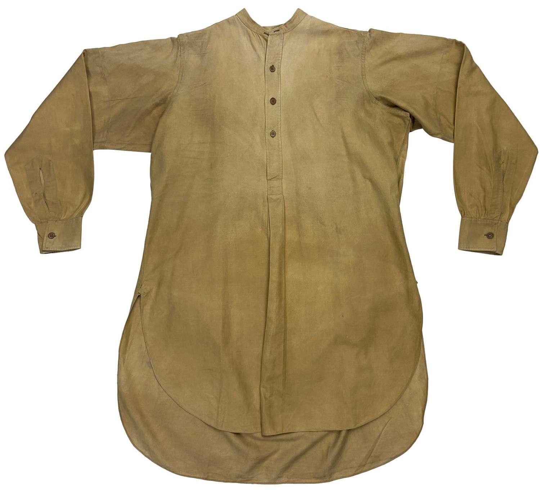Original WW2 British Army Officers Collarless Shirt by 'Hummel's'
