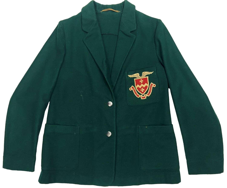 Original 1940s British Bottle Green Coloured School Blazer