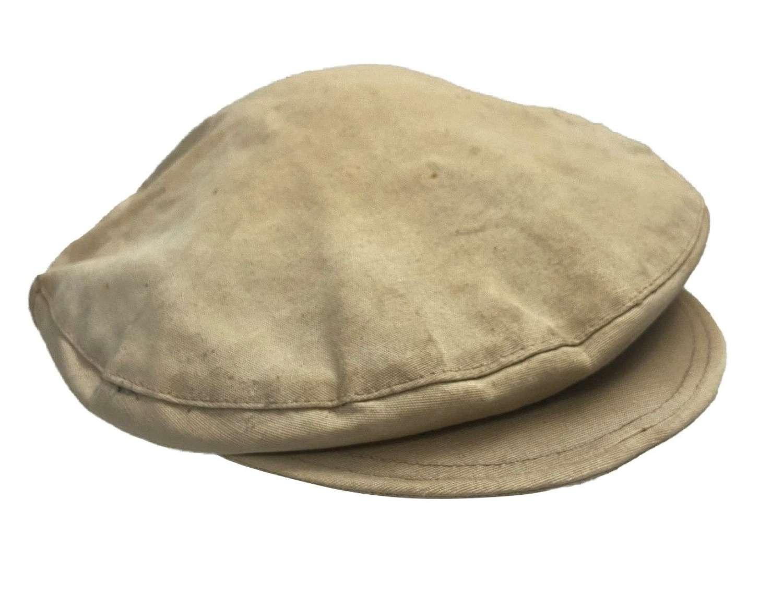 Original 1940s French Cotton Drill Workwear Flat Cap