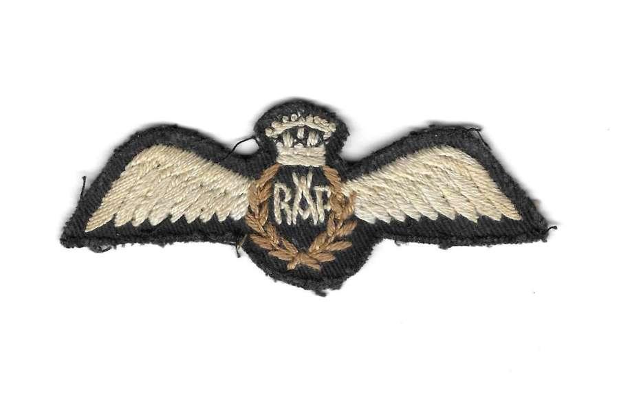 Original WW2 RAF Theatre Made Pilots Wings