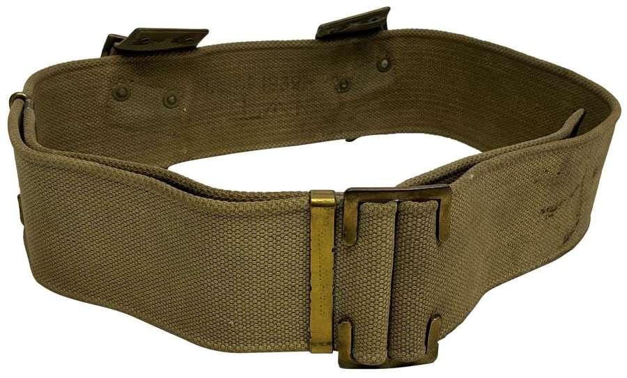 Original 1939 Dated British 1908 Pattern Webbing Belt