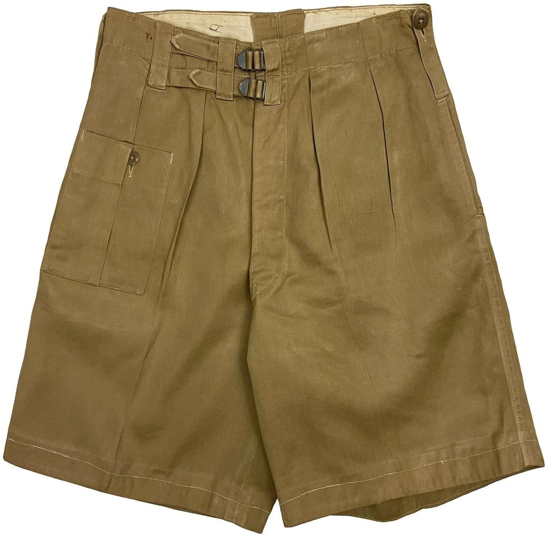 Original WW2 British War Aid Khaki Drill Shorts