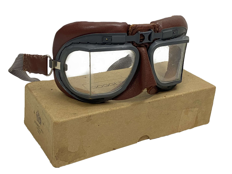 Original RAF MK VIII Flying Goggles + Box