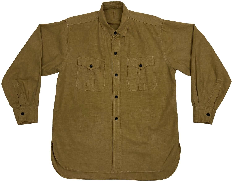 Original 1950s British Military Khaki Drill Aertex Shirt