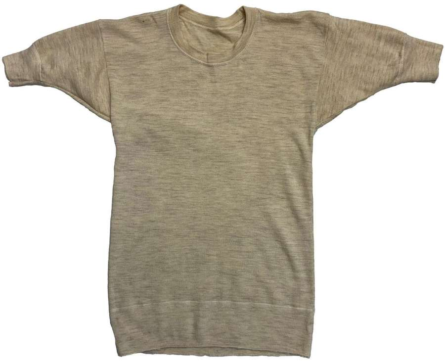 Original 1944 Dated British Military Undershirt by 'Geo. Spencer Ltd'