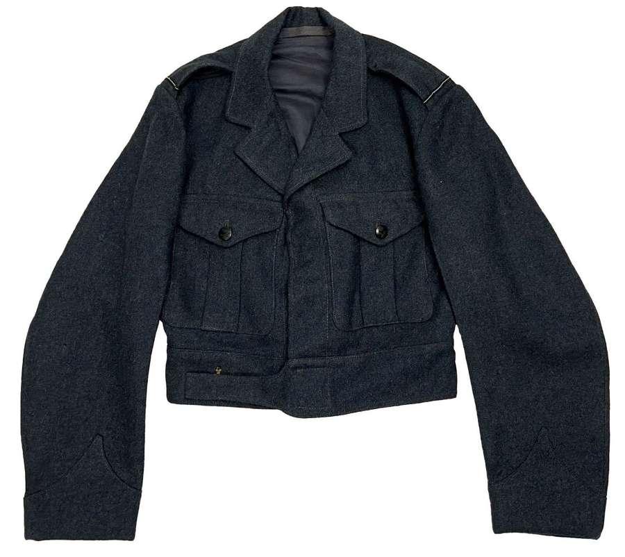 Original 1951 Dated RAF War Service Dress Blouse, New Pat - Size 7