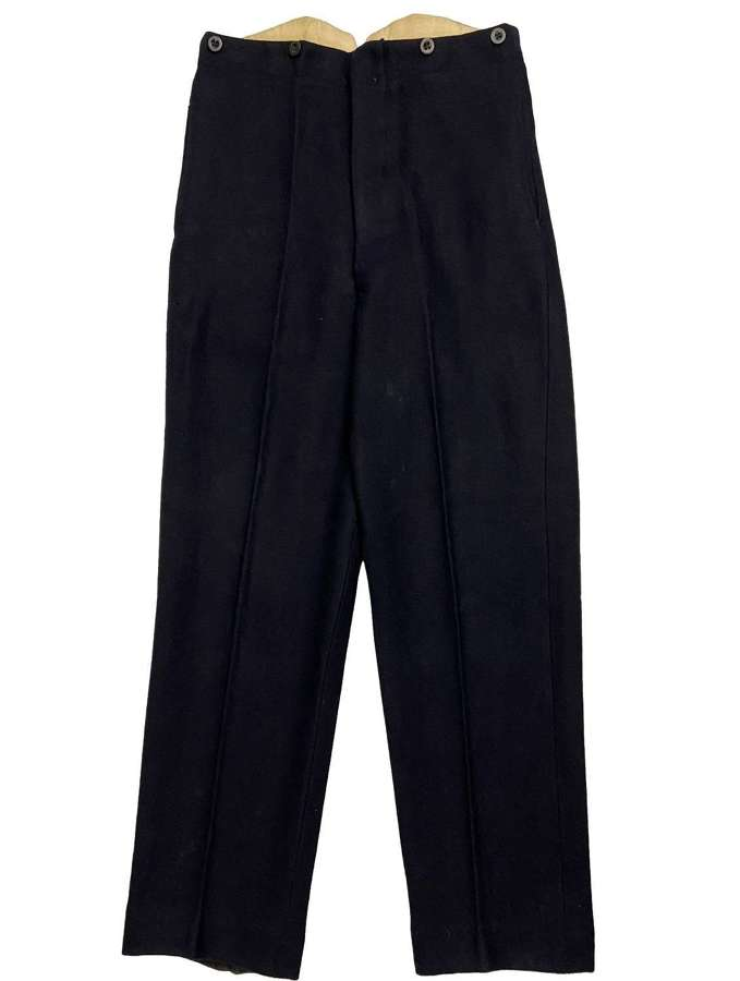 Original 1944 Dated Royal Navy Officers Working Dress Trousers