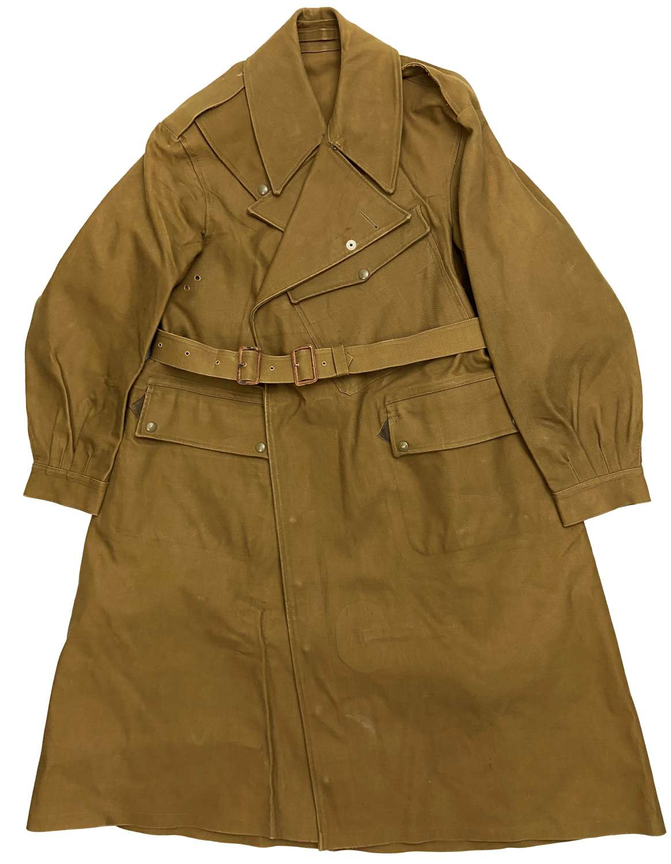 Original 1942 Dated British Army Dispatch Riders Coat - Size 8