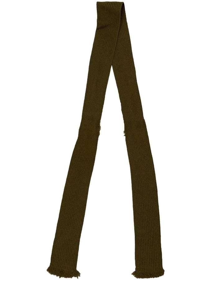 Original WW2 British Army Officers Wool Tie - Captain Karran