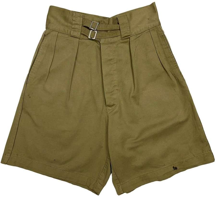 Original 1960s Italian Navy Khaki Shorts