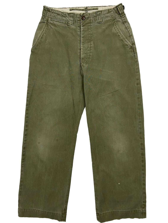 Original WW2 US Army M43 Combat Trousers - 28x30