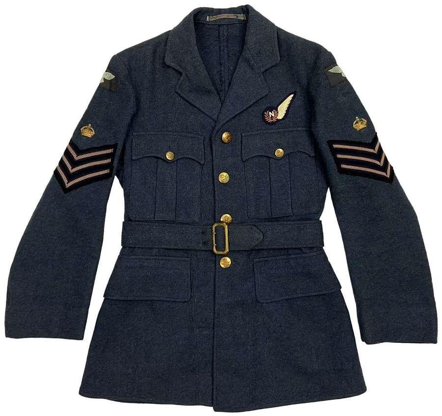 Original 1954 Dated RAF Ordinary Airman's Tunic Badge Sgt Navigator