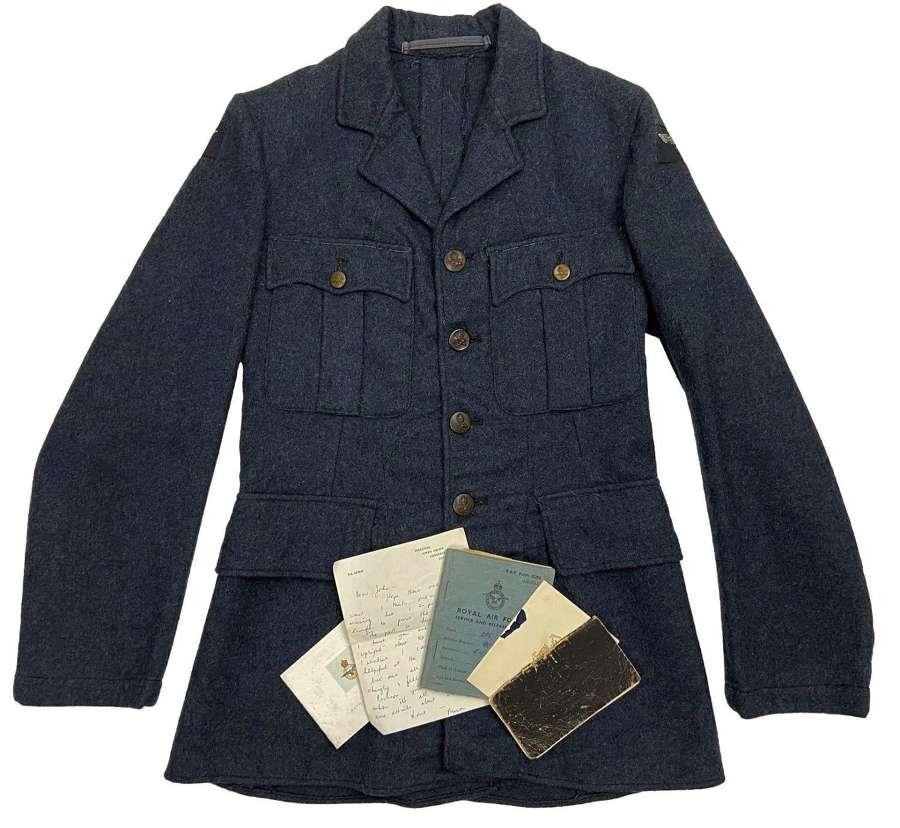 Original 1942 Dated RAF Ordinary Airman's Tunic + Paperwork Grouping