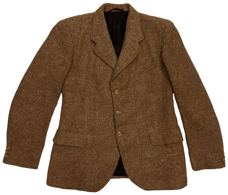 Original 1940s CC41 Oatmeal Tweed Men's Three Button Jacket