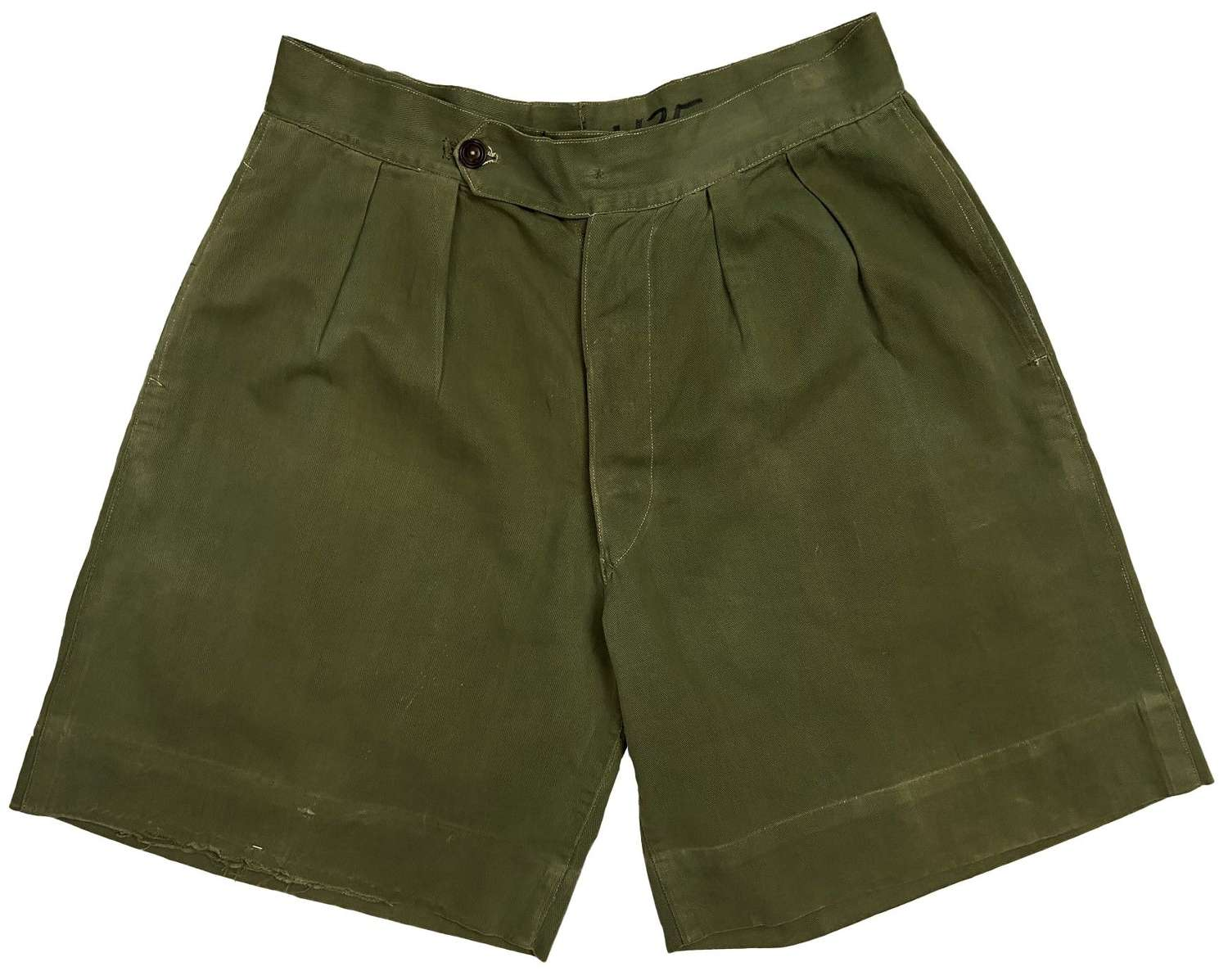 Original 1940s Theatre Made British Jungle Green Shorts