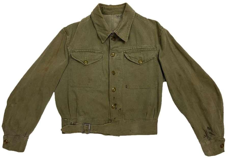 Original 1952 Dated British Army Denim Battledress Blouse - Size 8