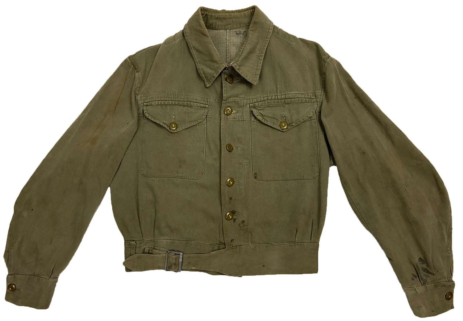 Original 1952 Dated British Army Denim Battledress Blouse - Size 8