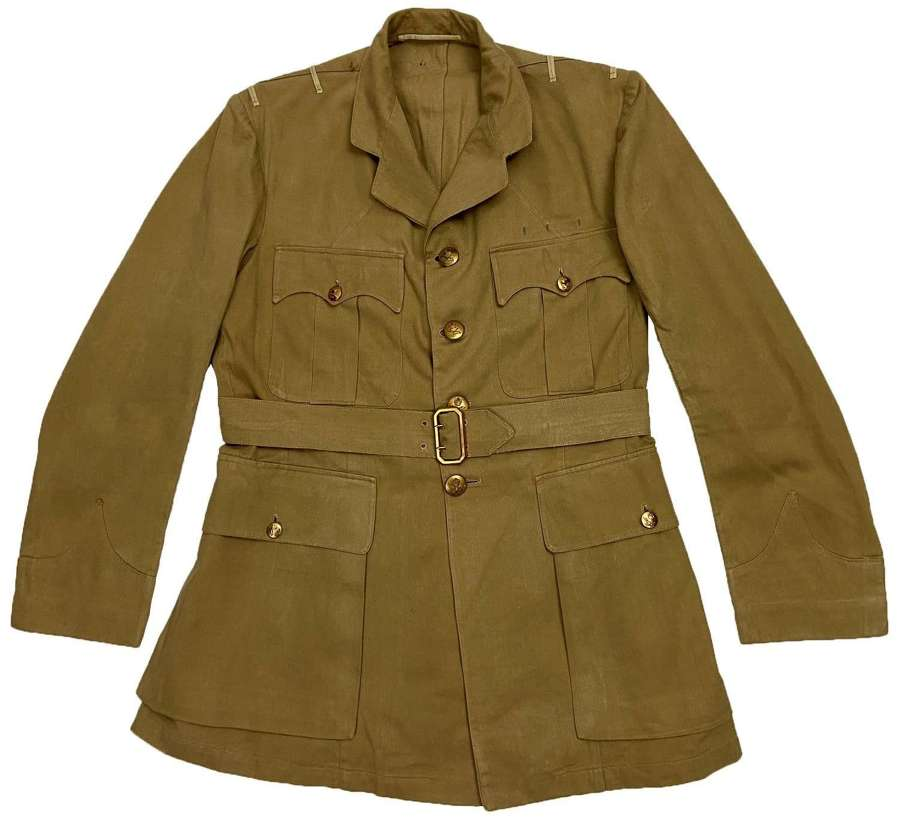 Original Early 1950s RAF Officers Khaki Drill Tunic by 'Gieves'