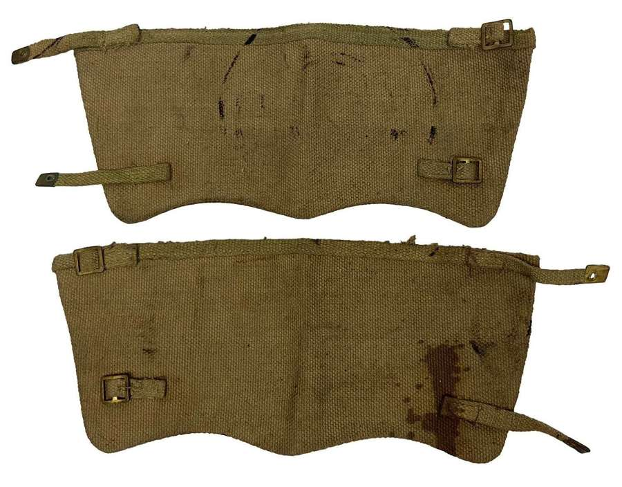 Original WW2 Indian Made British Army 1937 Pattern Webbing Anklets