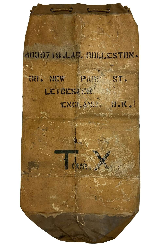 Original 1941 Dated RAF Tan Coloured Kit Bag